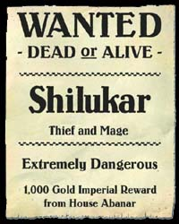 In the Shadow of the Spire - Shilukar Wanted Poster