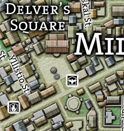 Ptolus - Delver's Square Map
